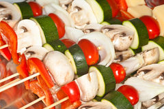Vegetable Kabobs Stock Photos