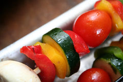 Vegetable Kabobs Royalty Free Stock Photos