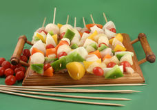 Vegetable kabobs Royalty Free Stock Image