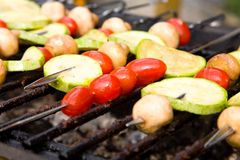 Vegetable Kebab. Stock Photo