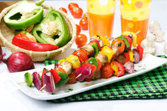Vegetable kebab Stock Photo