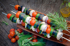 Vegetable kebab Royalty Free Stock Image