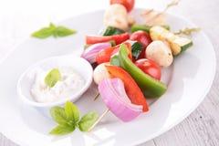 Vegetable kebab Royalty Free Stock Images