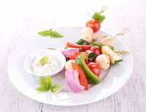 Vegetable kebab Royalty Free Stock Photo