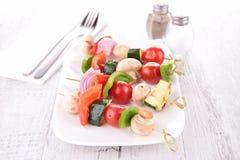 Vegetable kebab Stock Images