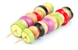 Vegetable kebab Stock Photography