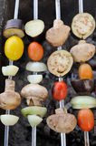 Vegetable Kebabs on Skewers Stock Photos