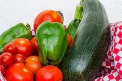 Vegetable of kitchen garden in a basket Royalty Free Stock Photography