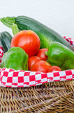 Vegetable of kitchen garden in a basket Stock Image