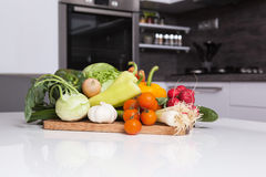 Vegetable in a kitchen Stock Photos