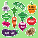 Vegetable labels Royalty Free Stock Images