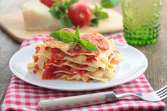 Vegetable lasagna Royalty Free Stock Photography