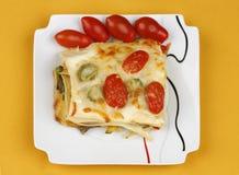 Vegetable lasagna Stock Images