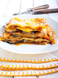 Vegetable lasagna bake Royalty Free Stock Image