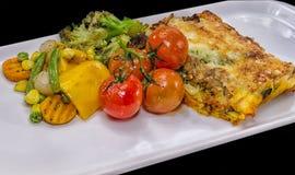 Vegetable Lasagne Royalty Free Stock Photos