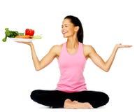 Vegetable latino woman Stock Photos