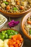 Vegetable lentil soup Stock Photography