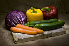 Vegetable light painting Royalty Free Stock Photo