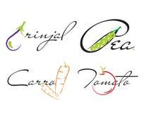vegetable logos Royalty Free Stock Image