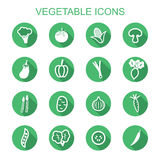 Vegetable long shadow icons Royalty Free Stock Photo