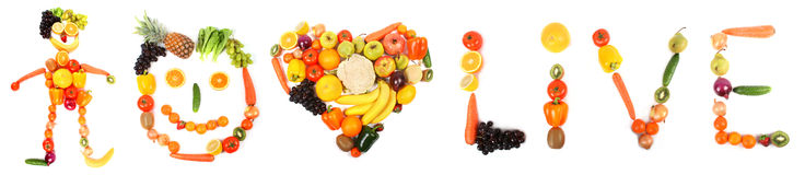 Vegetable love Stock Photography