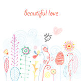 Vegetable love postcard Royalty Free Stock Photo