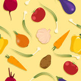 Vegetable_madness_pattern Stock Image