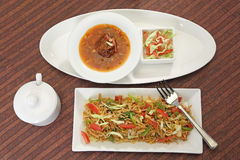Vegetable Manchurian with Fried Rice. Vegetable Manchurian and Fried Rice Stock Images