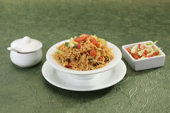 Vegetable Manchurian with Fried Rice. Vegetable Manchurian and Fried Rice Royalty Free Stock Photography