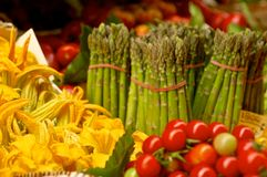 Vegetable market. On Florence - Italy Stock Image