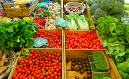 Vegetable market Royalty Free Stock Photos