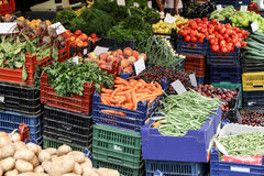 Vegetable market. Fresh vegetables in the market Stock Photo