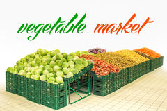 Vegetable market Stock Photography