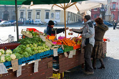 Vegetable Market in Brno Royalty Free Stock Image