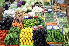 Vegetable market. Dubai. Colorful t and vegetable market in Dubai royalty free stock images