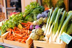Vegetable market Stock Photos