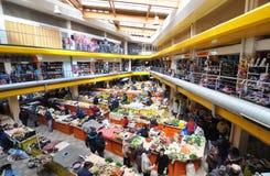 Vegetable market hall Stock Photo