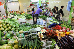 Vegetable market in Hong Kong Stock Photography