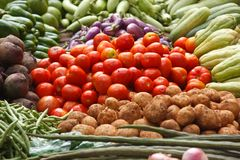 Vegetable market. India Royalty Free Stock Images