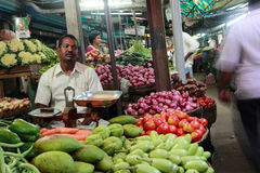 Vegetable market in Kanchipuram,Tamil Nadu,India. Royalty Free Stock Images