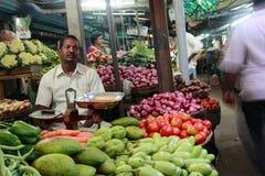 Vegetable market in Kanchipuram,Tamil Nadu,India. Royalty Free Stock Images
