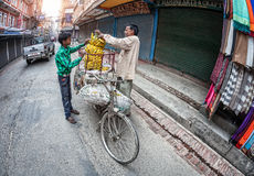 Vegetable market in Kathmandu Stock Images