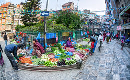 Vegetable market in Kathmandu Royalty Free Stock Photos