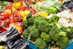 Vegetable in market stall Stock Photography