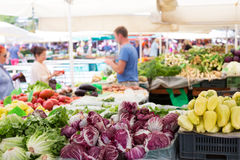 Vegetable market stall. Royalty Free Stock Photos