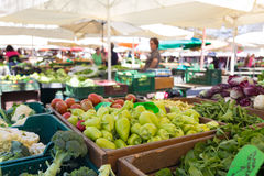 Vegetable market stall. Stock Photos