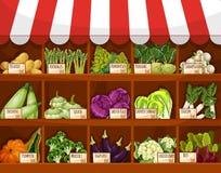 Free Vegetable Market Stall With Fresh Veggies Stock Photo - 81131930