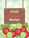 Vegetable market template Stock Photography