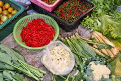 Vegetable market in Thailand Royalty Free Stock Images
