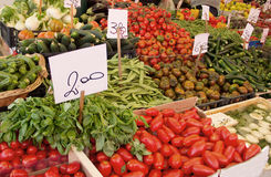 Vegetable market in Venice, Italy. Fresh vegetables in a market in Italy Royalty Free Stock Photography